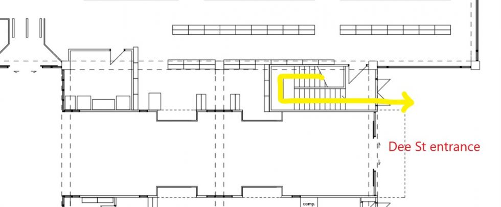 Floor Plan of Access Door to Meeting Room