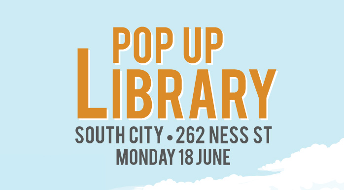 South City Pop Up LIbrary Advertisement